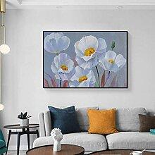 XIANGPEIFBH Leinwand Malerei Aquarell Blumen