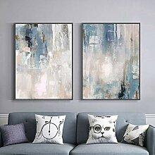 XIANGPEIFBH Leinwanddruck Blau Moderne abstrakte