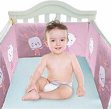 Xiangpian183 Babybett Kinderbett Stoßfänger -