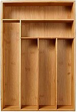 xiangpian183 Bambus Besteckkasten für Schublade,