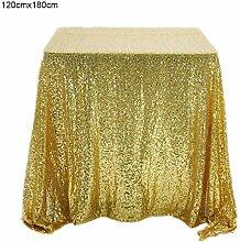 xiangpian183 Gold Pailletten Tischdecke - Quadrat