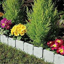 XiangZe 10 Stücke Einzigartigee Gartenzaüne grau