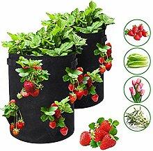 Xiangze Erdbeer-Pflanzbeutel, Pflanzen Tasche
