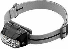 XIAOBUDIAN LED-Scheinwerfer-Taschenlampe Mit Spot-Flut Und Roten Lichtern Beste LED-Scheinwerfer Für Outdoor-Camping Angeln Einsatz 3 * AAA (Farbe : Schwarz)