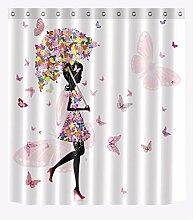 xiaodanhan Duschvorhang 3D-Druck Schmetterling