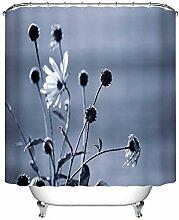 xiaodanhan Duschvorhang Grauer Hintergrund Pflanze