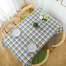 XIAOE Tischdecke Stoff Leinen Tischdecke Stoff