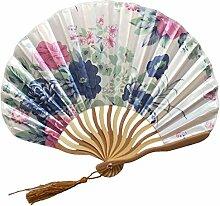XIAOHAIZI Handfächer,Chinesischen Stil Pflanze