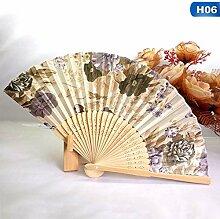 XIAOHAIZI Handfächer,Pflanze Blume Beige Hand