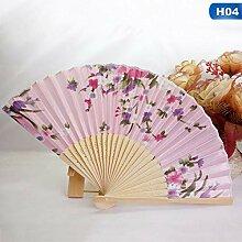 XIAOHAIZI Handfächer,Pflanze Blume Rosa Hand