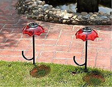 XIAOJIA Solar Courtyard Light, Outdoor Garden Villa Landscape Lawn Lampe, Creative wasserdichte Street Lights, 2 Stücke , Red
