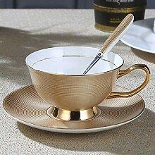 xiaojiangqi 10 Unzen Porzellan Kaffeetasse Mit