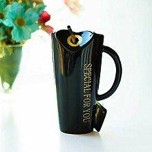 xiaojiangqi 480Ml Stroh Keramik Tasse Kaffee Milch