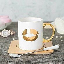 xiaojiangqi Keramik Wasser Tasse Gold Milch Tasse