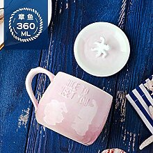 xiaojiangqi Kreative Mark Tasse Keramik Abgedeckt