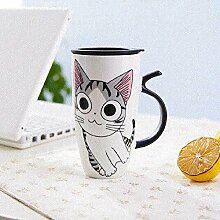 xiaojiangqi Nette Katze Keramik Mit Deckel Große