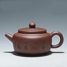XIAOLE Teekessel Lila Ton Teekanne Kaffee Tee Set