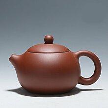 XIAOLE Teekessel Lila Ton Teekanne Kaffee Tee Set,