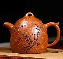 XIAOLE Teekessel Lila Ton Teekanne Tee Set, 225ml