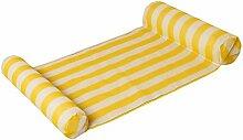 XIAOLI& Aufblasbare sich hin- und herbewegende kompakte und tragbare Swimmingpool-Matten-Wasser-Hängematte für Erwachsene und Kinder, 134 * 67CM , yellow