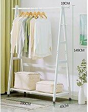 XIAOLIN Garderobe Massivholz mit Pulley