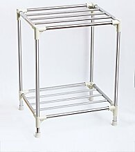 XIAOLIN-- Multilayer Becken Regal Edelstahl Becken Regal WC Regale Boden Typ Badezimmer Lagerung Rack Badezimmer-Racks ( Farbe : 5 , größe : A )