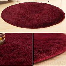 XIAOLIN Teppiche Matten Nettes rundes Bett mit Teppich Teppich Fitness Yoga Wiege Computer Stuhl Lounge Wohnzimmer Schlafzimmer Teppich (Farbe, Größe optional) Super weicher Teppich ( Farbe : #10 , größe : 100cm )