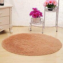 XIAOLIN Teppiche Matten Nettes rundes Bett mit Teppich Teppich Fitness Yoga Wiege Computer Stuhl Lounge Wohnzimmer Schlafzimmer Teppich (Farbe, Größe optional) Super weicher Teppich ( Farbe : #2 , größe : 120cm )