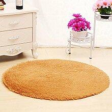 XIAOLIN Teppiche Matten Nettes rundes Bett mit Teppich Teppich Fitness Yoga Wiege Computer Stuhl Lounge Wohnzimmer Schlafzimmer Teppich (Farbe, Größe optional) Super weicher Teppich ( Farbe : #4 , größe : 100cm )