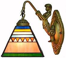 XIAOLULU-Home Wandlampe Glasmalerei Nachtlicht