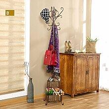 XIAOLVSHANGHANG Coss European Bedroom Coat Rack Einfache Hanger Creative Iron Einfache Wohnzimmer Klassische Kleiderbügel (Farbe : L)