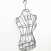XIAOLVSHANGHANG Coss Halber Körper Weiblich Modell Rack Damen Bekleidung Kleiderbügel Wandbehang Menschen Kleidung Display Stand Requisiten Kleiderbügel Klassische Kleiderbügel (Farbe : Schwarz)