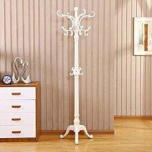 XIAOLVSHANGHANG COSS Landing Massivholz, Europäischen Stil Kreative Schlafzimmer, Wohnzimmer, Vertikale Einfache Moderne Kleiderständer Klassische Kleiderbügel (ausgabe : F)