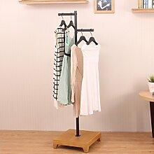 XIAOLVSHANGHANG Coss Mantel Racks Bekleidungsgeschäft Display Stand Hangers by Iron Klassische Kleiderbügel (Farbe : Schwarz)