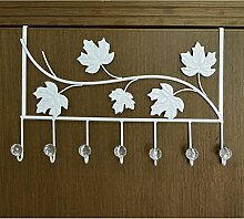 XIAOLVSHANGHANG Coss Mantelhaken Eisenwände Creative Pastoral Continental Coat Rack Wandhänger Kleiderbügel Klassische Kleiderbügel (Farbe : Weiß, Größe : D)