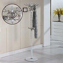 XIAOLVSHANGHANG COSS Metall Edelstahl Schlafzimmer Mantel Rack Bodenmontage Mode Kreative Rotation Innen Wohnzimmer Kleiderbügel Klassische Kleiderbügel (design : K)