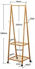 XIAOLVSHANGHANG Coss Multifunktionsmantel Rack, Schlafzimmer Boden Kleiderbügel Abnehmbare Hängeaufhänger Einfache Holz Trocknen Racks Klassische Kleiderbügel (Farbe : A, Größe : S)