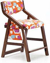XIAOLVSHANGHANG HHCS Kind Lernen Stuhl Esszimmerstuhl Bank Massivholz Kann Stuhl Stuhl Sessel Schreibtisch Und Stuhl Hause Kleine Hocker Heben Hocker & Stühle (Farbe : B)