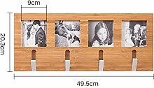 XIAOLVSHANGHANG HORS Kleiderbügel Wandbehang Wand Kleiderbügel Eingang Kleiderbügel Rack Schlafzimmer Wand Massivholz Kleiderhaken Schubladenboxen (größe : 49.5cm)