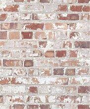 XIAOMEI Faux-Ziegelstein-Steinbeschaffenheit-Tapete Umwelt-PVC-Ziegelstein-Muster-Tapete für Sofa-Hintergrund-Wohnzimmer Eine Rollen-Tapete 53 * 1000cm