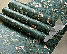 XIAOMEI Modernes Muster-Tapete-Vliestapete für Wohnzimmer-Schlafzimmer- und Fernsehhintergrund-purpurrote graue Tapete eine Rolle 53 * 1000cm , green , 53*1000cm