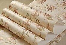 XIAOMEI Nicht gesponnene Weinlese-Blumen-Tapete für Schlafzimmer-Wohnzimmer-Hintergrund Eine Rollen-Tapete 53 * 1000cm , 53*1000cm