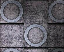 XIAOMEI Retro strukturierte Tapete Umweltschutz PVC Tapete für Wohnzimmer Schlafzimmer Themenrestaurants Eine Rolle Wallpaper 53 * 1000cm , 53*1000cm