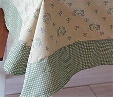 XIAOMEIXI Baumwolle Polyester Stoff Tischdecke