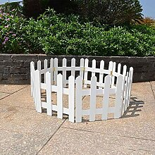 XiaoOu Gartenzaun 1,2mX30cm DIY Rasen Gartenzaun
