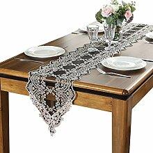 Xiaoping Elegante Spitze Tischläufer mit Quasten