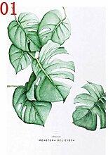 xiaoshuaige Nordic Leinwand HD Print Green Leaf