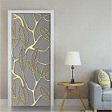 xiaoxiaowo Kreative 3D Goldene Blätter Tür