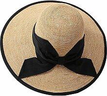 XIAOYAN Hüte Mützen Raffia Gras handgemachte