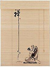 XIAOYAN Rollos Bambus-Türvorhang Sichtschutz
